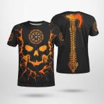 Skull Viking And Backbone Is An Ax - Viking T-Shirts All-Over-Print