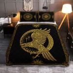 Ravens in Celtic Mythology And Runic - Viking Quilt Bedding Set