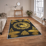 Ying Yan Wolf And Raven - Viking Area Rug