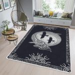 Runic And Raven - Viking Area Rug