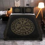 Vegvisir Made of Stone - Viking Quilt Bedding Set
