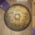 Old Wooden Viking Shield - Viking Round Carpet