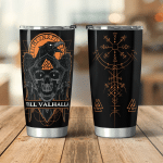 Till Valhalla - Raven Viking - Viking Tumbler