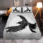 The Ravens Of Odin In Norse Mythology - Viking Quilt Bedding Set