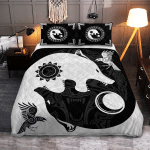 The Sons of Fenrir - Hati and Skoll - Viking Quilt Bedding Set