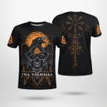 Raven - Till Valhalla - Vegvisir - Viking T-Shirts All-Over-Print
