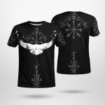 Viking Raven And Vegvisir - Viking T-Shirts All-Over-Print