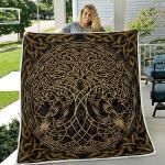Raven Viking And Tree Yggdrasil - Viking Quilt