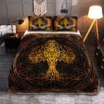 Yggdrasil - The Tree of Life in Norse Mythology - Viking Quilt Bedding Set