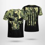 Skull Viking - Viking Flag Axe - Viking T-Shirts All-Over-Print