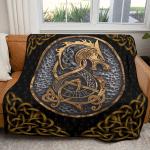 Fenrir   Norse mythology - Viking Blanket