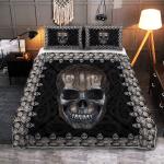 Viking Skull   Halloween Skull - Viking Quilt Bedding Set