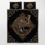 Hugin and Munin   Odin's Ravens   Yggdrasil - Viking Quilt Bedding Set