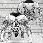 Viking Skull - Until Valhalla - Viking Hoodie All Over Print