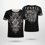 Viking Fenrir Wolf And Raven - Viking T-Shirts All-Over-Print