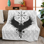 Vegvisir And Raven Viking - Viking Quilt