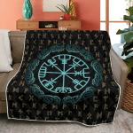 Vegvisir And Runic Viking - Viking Quilt