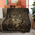 Huginn and Muninn - The Triple Horn of Odin - Viking Quilt