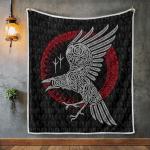 Raven Viking And Rune - Viking Quilt