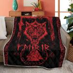 Fenrir in Runes - Viking Quilt