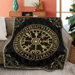 Vegvisir And Runes - Viking Quilt