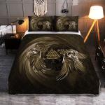 Raven Valknut - Viking Quilt Bedding Set