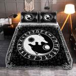 Yin Yang Wolf Viking - Viking Quilt Bedding Set