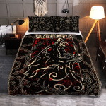 Fenrir With Chain - Viking Quilt Bedding Set