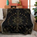 Vegvisir And Runic - Viking Quilt
