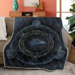 Raven With Symbol Viking - Viking Quilt