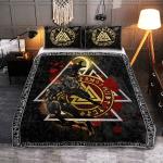 Fenrir Wolf Valknut - Viking Quilt Bedding Set
