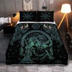 Viking Fenrir Wolf - Viking Quilt Bedding Set