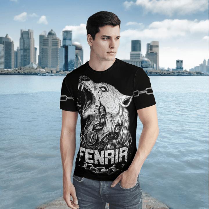 Viking Gear -  Fenrir is tied with chains -  Viking Hoodie 3D