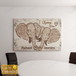 Personalized Elephants I Choose You Canvas / Posters For Couples / Husband / Wife / Girlfriend / Boyfriend / Valentine Day