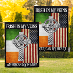 Irish American Flags Posters Puzzles Shirts Hoodies Mugs Cups