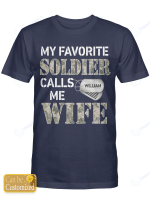 Personalized Soldier Wife Husband Shirts Hoodies Cups Mugs Hand Bags Totes