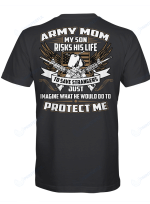 My Son Risks His Life To Save Strangers Shirts Hoodies Cups Mugs Hand Bags Totes Army