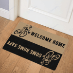 Welcome Home DoorMat Riding - Cycling - Riders - Cyclist