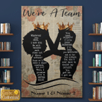 Personalized Name We're A Team Family Couple Canvas / Posters / Puzzles