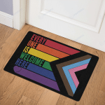 Everyone is welcome here Doormats Canvas Posters Puzzles