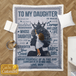 To My Daughter Afro Girl Blankets Quilts