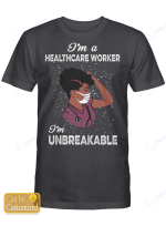 Personalized Title Afro Nurse I'm Unbreakable Shirts / Mugs / Totes / Hand Bags
