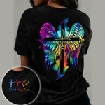 Faith Cross Wings Colorful God Jesus Christs Christians Shirts Hoodies Cups Mugs Totes