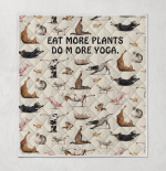 Eat More Plants Do More Yoga - Animal Care Quilts / Blankets / Puzzles