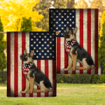 Sheperd Dogs American Flags Canvases Posters Puzzles Quilts Shower Curtains Blankets