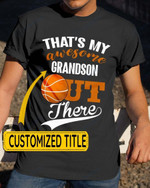 Personalized That's My Awesome Kids Out There Basketball Sports - Grandsons Granddaughters Grandkids Shirts / Hoodies / Mugs / Cups / Totes / Hand Bags