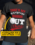 Personalized That's My Awesome Kids Out There Volleyball Sports - Grandsons Granddaughters Grandkids Shirts / Hoodies / Mugs / Cups / Totes / Hand Bags