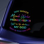 Way Maker Miracle Worker Jesus Christs Christians Stickers Shirts Hoodies Cups Mugs Totes Handbags