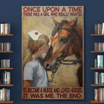 Nurses And Love Horses Canvases Posters Pictures Puzzles Quilts Blankets Shower Curtains