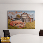 God Blessed The Broken Road Truck And Farm (Canvases, Pictures, Puzzles, Posters, Quilts, Blankets, Jesus - Christs - Christians - Couple)
